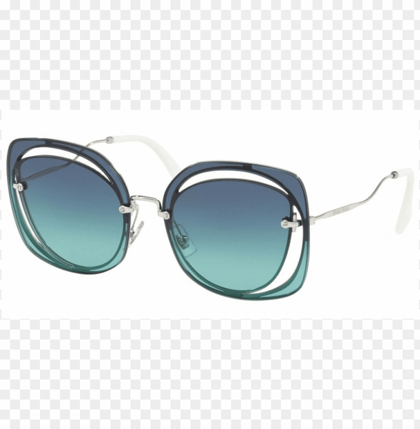 free PNG miu miu sunglasses cat eye style dark blue azure gradient - miu miu mu 10 PNG image with transparent background PNG images transparent