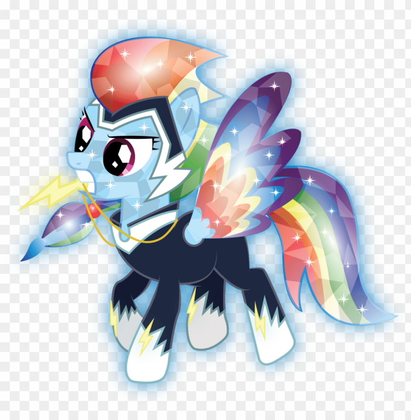 Mlp Rainbow Dash Crystal Png Image With Transparent Background Toppng