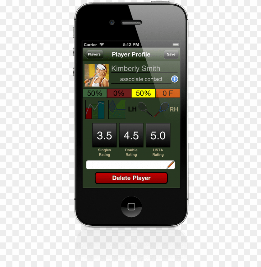 free PNG mobile tennis scoring - iphone 4 PNG image with transparent background PNG images transparent