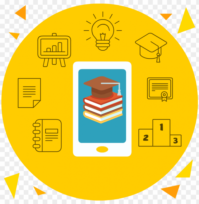 free PNG mobile&books learning mobile&books learning - m learning icon PNG image with transparent background PNG images transparent