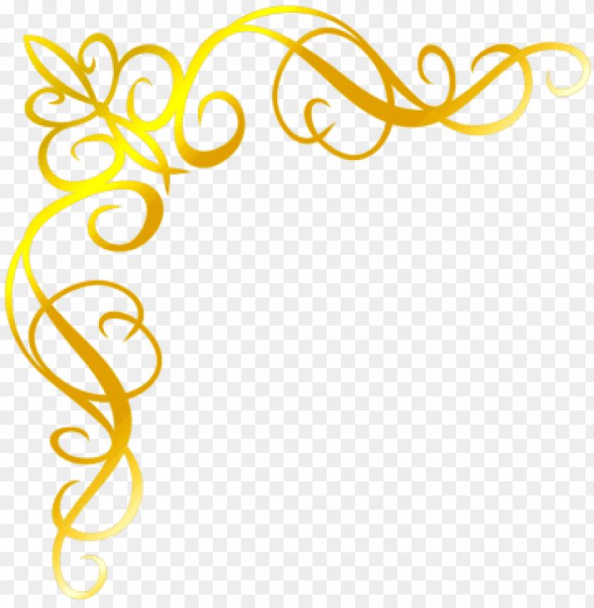free PNG moldura arabesco convite png dourado - bordas para convite de casamento png dourada PNG image with transparent background PNG images transparent