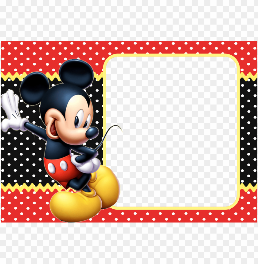 Moldura Do Mickey Png Image With Transparent Background Toppng