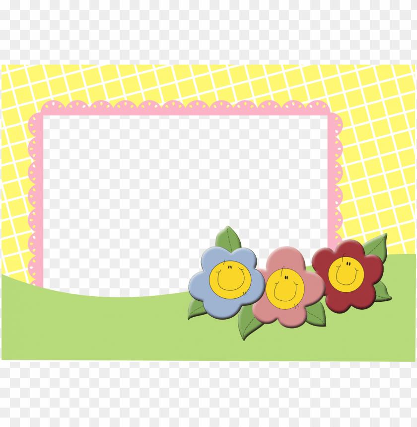 Moldura Flores Infantil Png Image With Transparent