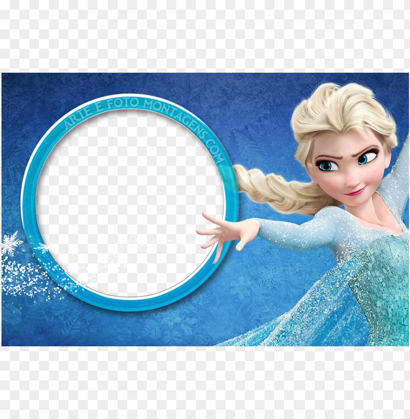 free PNG moldura frozen png graphic library stock - frozen elsa anna edible image photo cake topper sheet PNG image with transparent background PNG images transparent