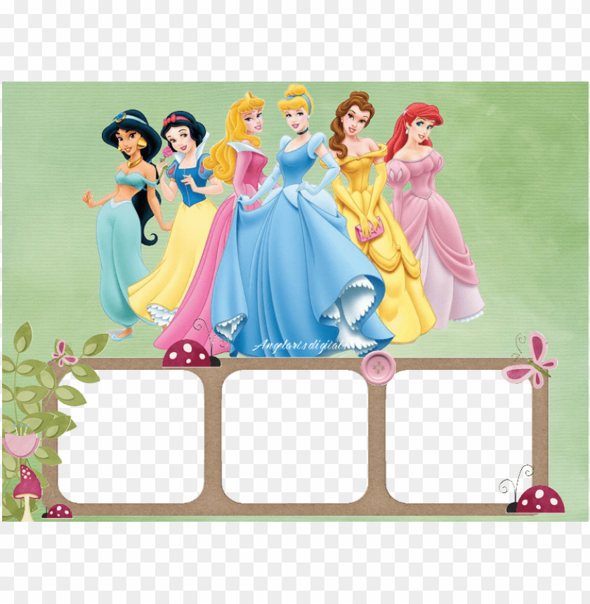 free PNG moldura princesas disney - molduras para fotos princesas PNG image with transparent background PNG images transparent