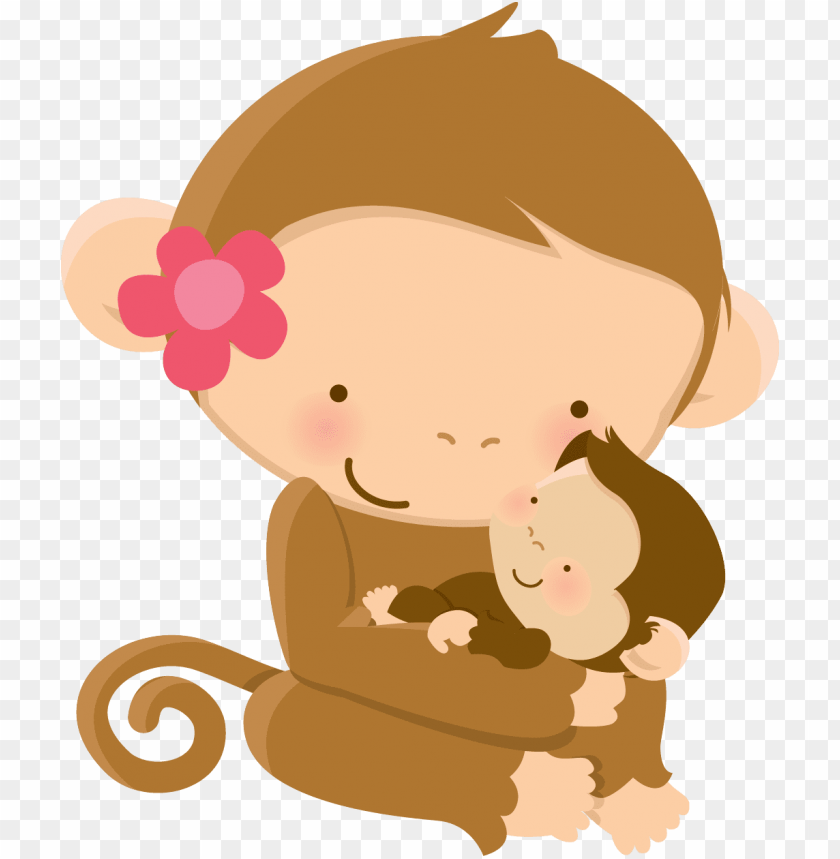 free PNG mom baby animalgraphics, baby shower mother's - mom and baby monkey PNG image with transparent background PNG images transparent