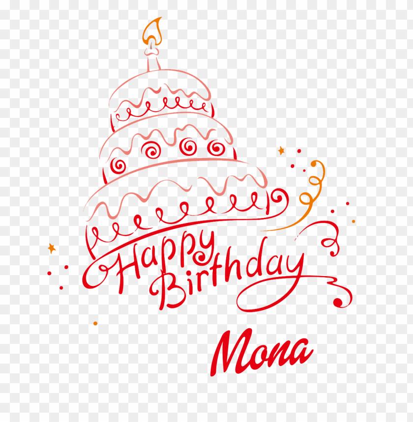 mona happy birthday name png 11540734045gv674emsnb