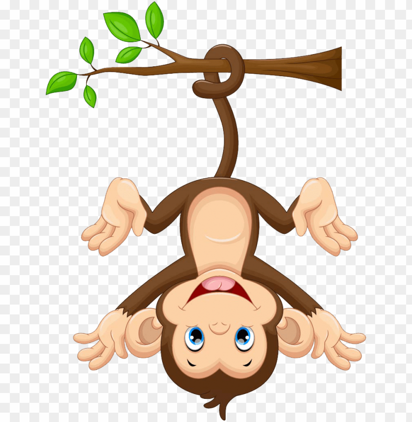 free PNG monkey cartoon free photo png clipart - cartoon monkey hanging from tree PNG image with transparent background PNG images transparent