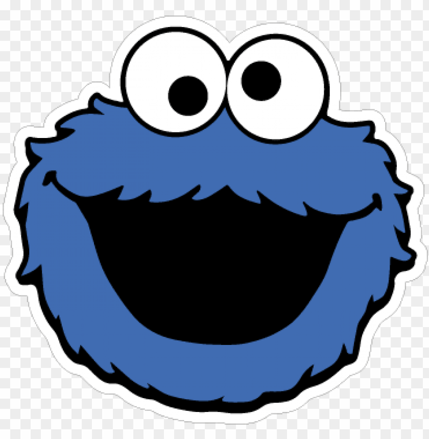 Monstro Das Bolachas Cookie Monster Silhouette Png Image With
