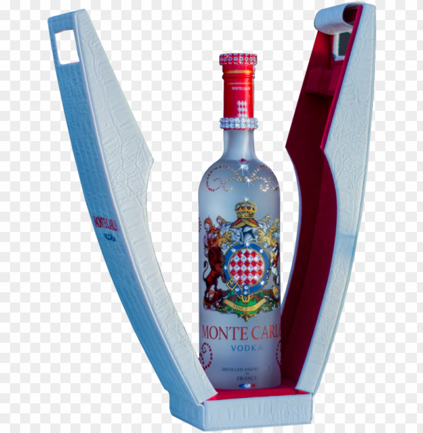 free PNG monte carlo vodka swarovski bottle 750ml - vodka PNG image with transparent background PNG images transparent