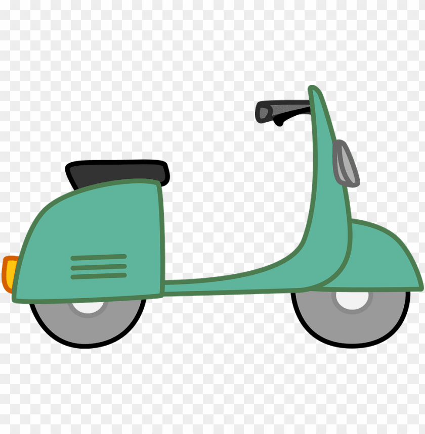 free PNG moped, scooter, bike, white, green, kids, scrapbook - clip art moped PNG image with transparent background PNG images transparent
