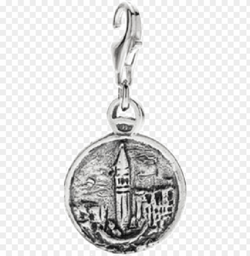 free PNG more views - lagoon of venice charm - sterling silver PNG image with transparent background PNG images transparent