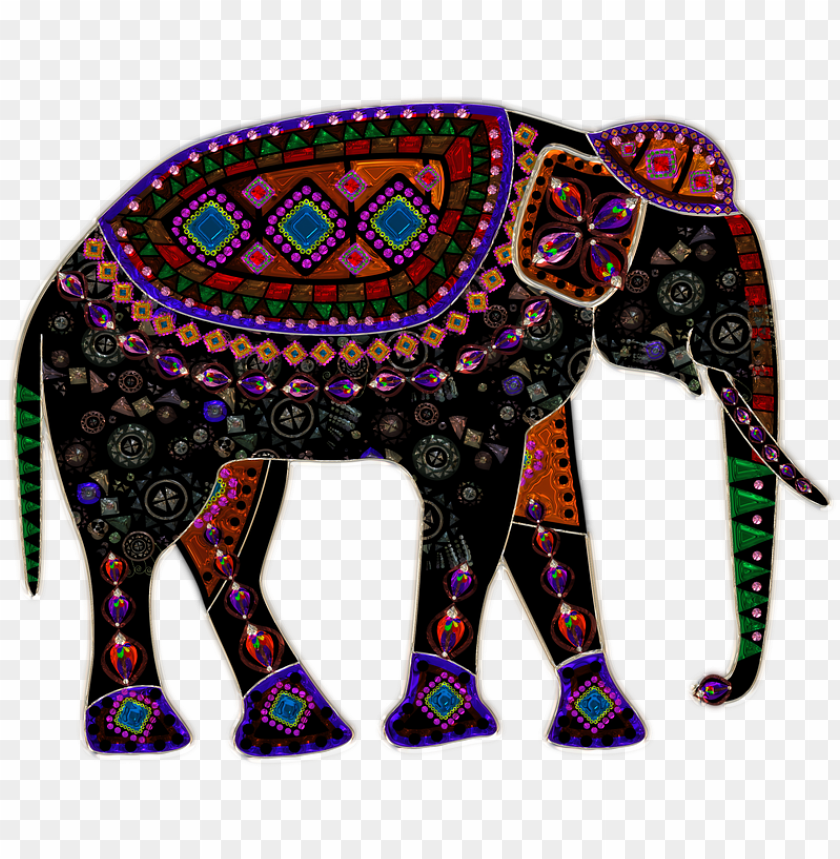 free PNG mosaic elephant PNG image with transparent background PNG images transparent