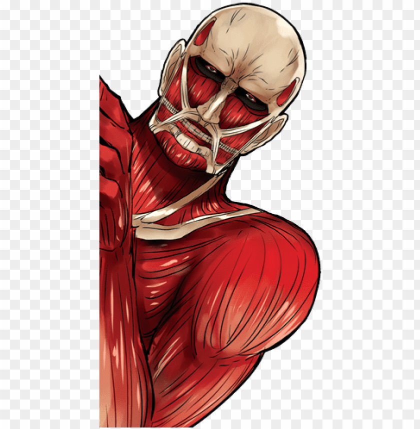 Moshi Moshi Villager San Colossal Titan Desu Attack On Titan Titan Png Image With Transparent Background Toppng
