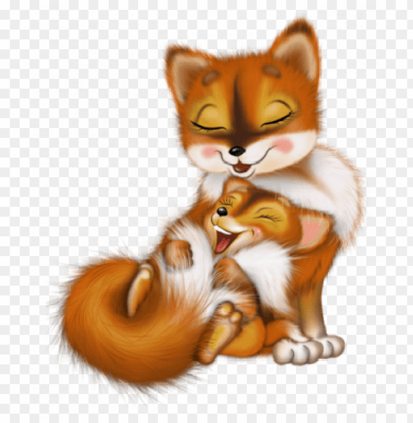free PNG mother fox and baby fox PNG image with transparent background PNG images transparent