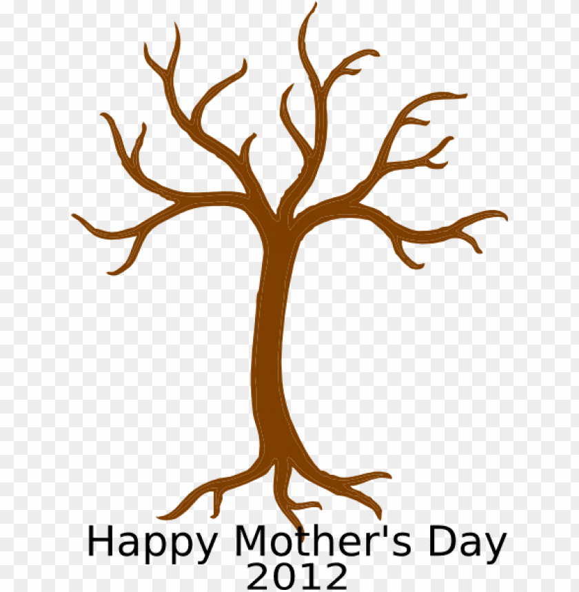 free PNG mother s day handprint tree templateat- bare tree PNG image with transparent background PNG images transparent