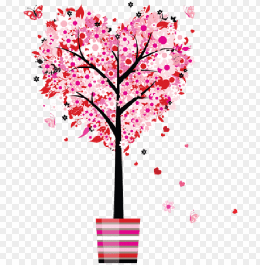 free PNG mother s day  mothers day tree love heart flowers - mothers day  transparent PNG image with transparent background PNG images transparent