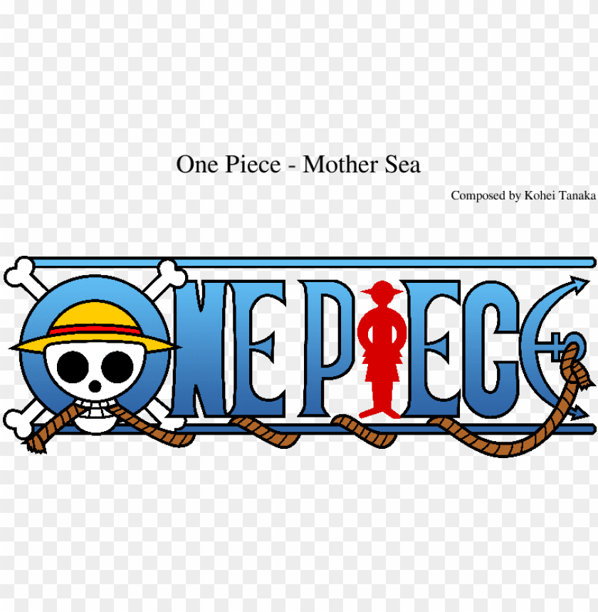 free PNG mother sea sheet music composed by composed by kohei - one piece official logo PNG image with transparent background PNG images transparent