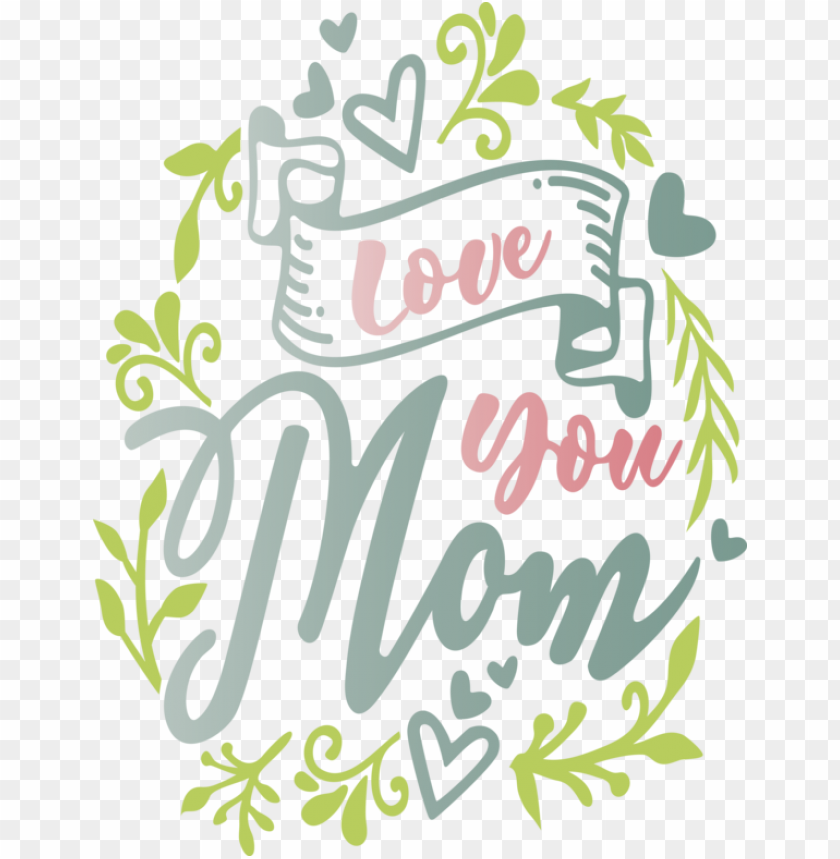 free PNG Mother's Day Font Text Plant for Mothers Day Calligraphy for Mothers Day PNG image with transparent background PNG images transparent