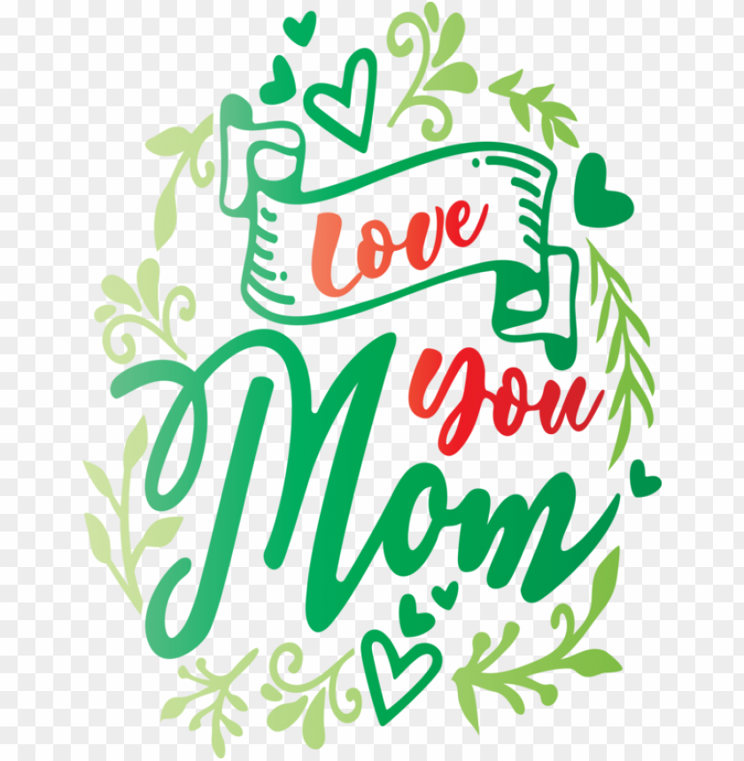 free PNG Mother's Day Green Text Font for Mothers Day Calligraphy for Mothers Day PNG image with transparent background PNG images transparent
