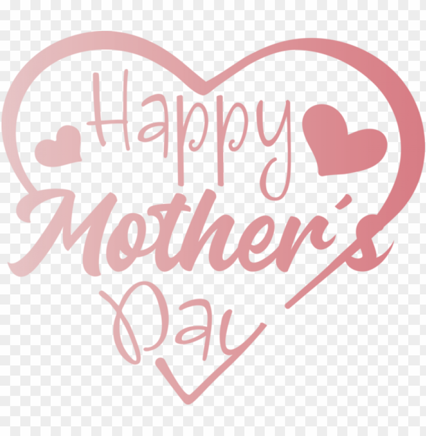 free PNG Mother's Day Heart Text Font for Mothers Day Calligraphy for Mothers Day PNG image with transparent background PNG images transparent