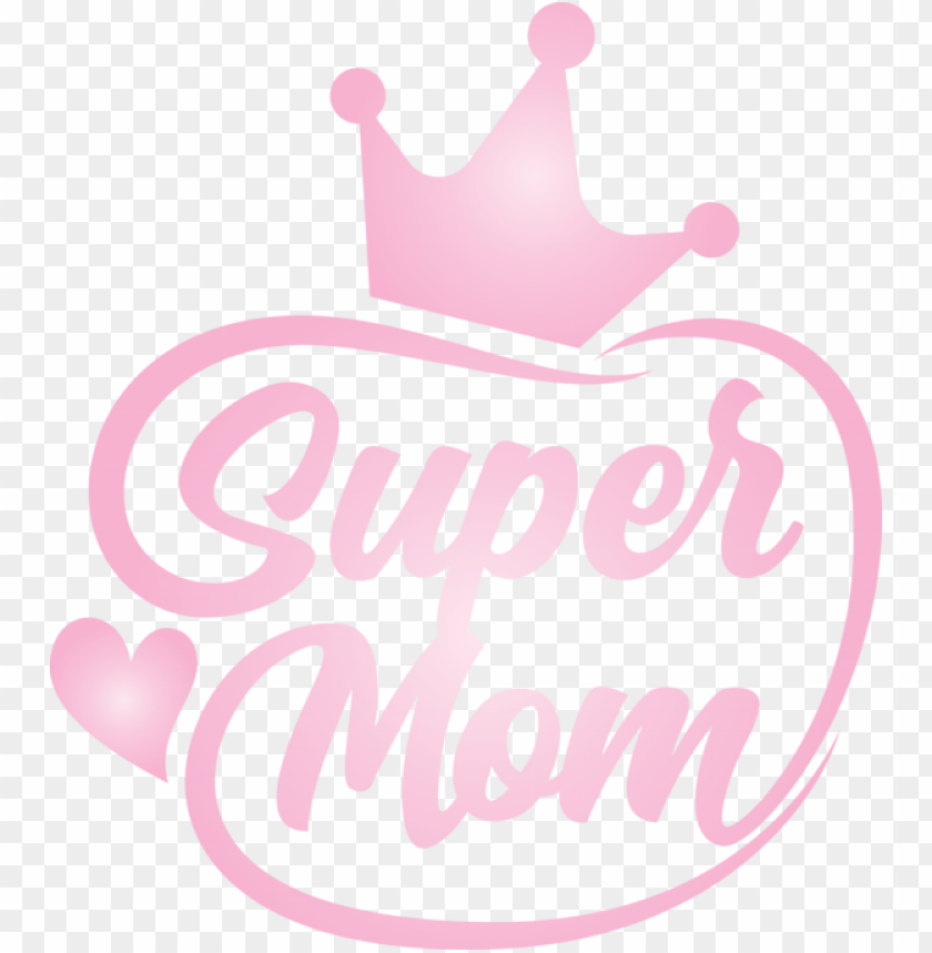 free PNG Mother's Day Logo Design Pink M for Super Mom for Mothers Day PNG image with transparent background PNG images transparent