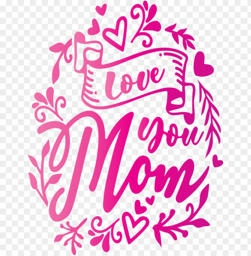 free PNG Mother's Day Pink Text Font for Mothers Day Calligraphy for Mothers Day PNG image with transparent background PNG images transparent
