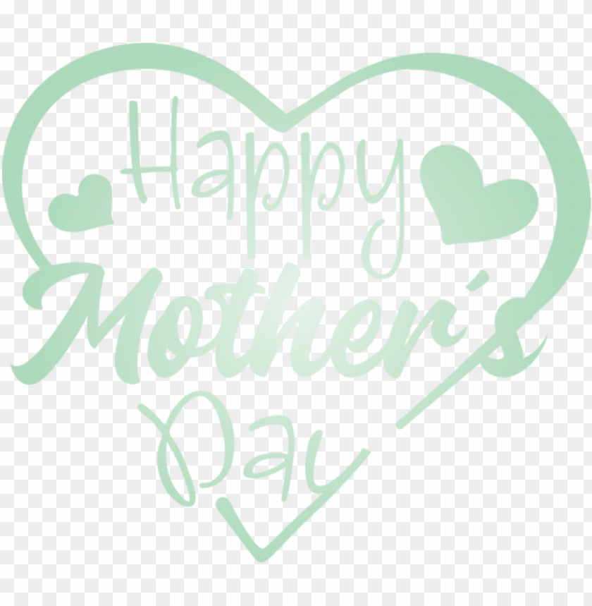 free PNG Mother's Day Text Font Green for Mothers Day Calligraphy for Mothers Day PNG image with transparent background PNG images transparent
