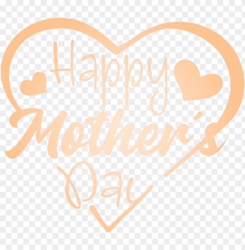 free PNG Mother's Day Text Font Heart for Mothers Day Calligraphy for Mothers Day PNG image with transparent background PNG images transparent
