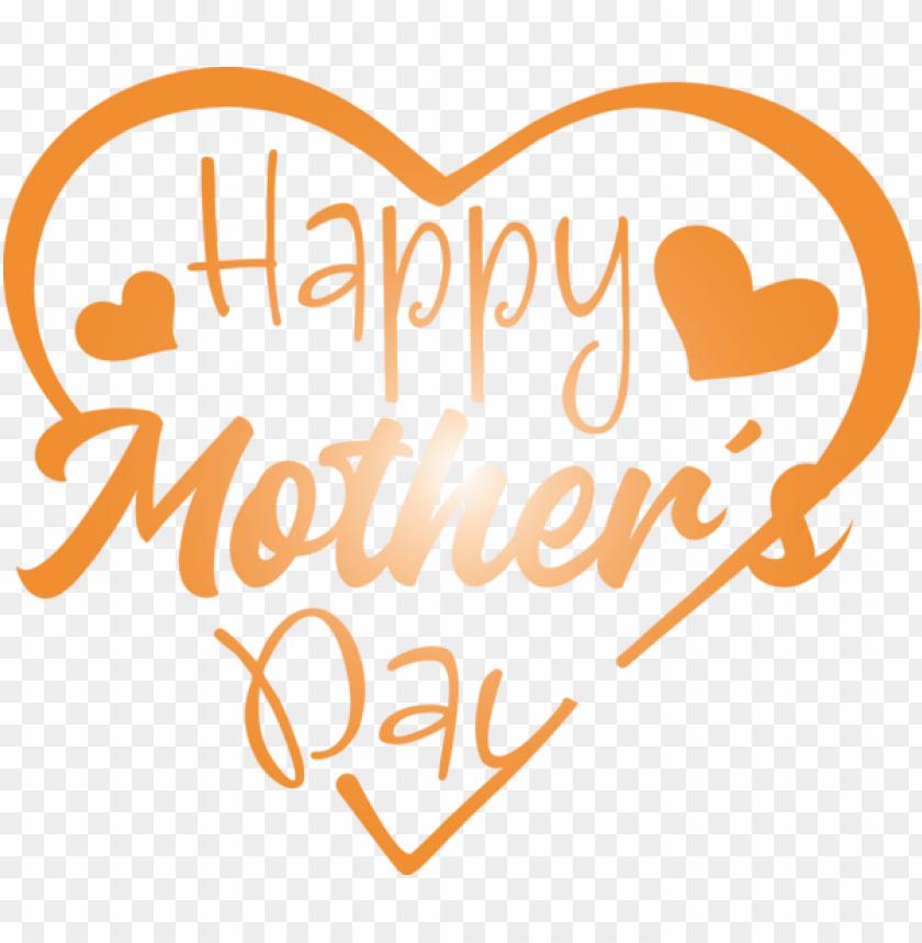 free PNG Mother's Day Text Font Orange for Mothers Day Calligraphy for Mothers Day PNG image with transparent background PNG images transparent