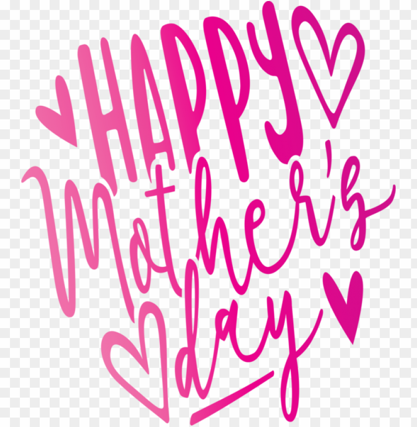 free PNG Mother's Day Text Font Pink for Mothers Day Calligraphy for Mothers Day PNG image with transparent background PNG images transparent