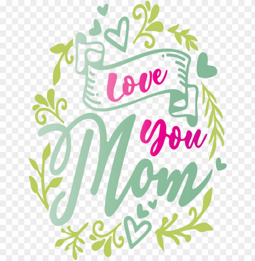 free PNG Mother's Day Text Font Plant for Mothers Day Calligraphy for Mothers Day PNG image with transparent background PNG images transparent