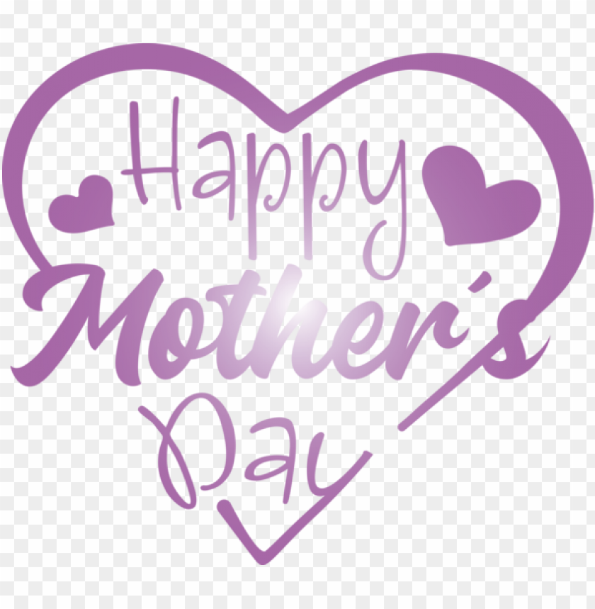 free PNG Mother's Day Text Font Purple for Mothers Day Calligraphy for Mothers Day PNG image with transparent background PNG images transparent