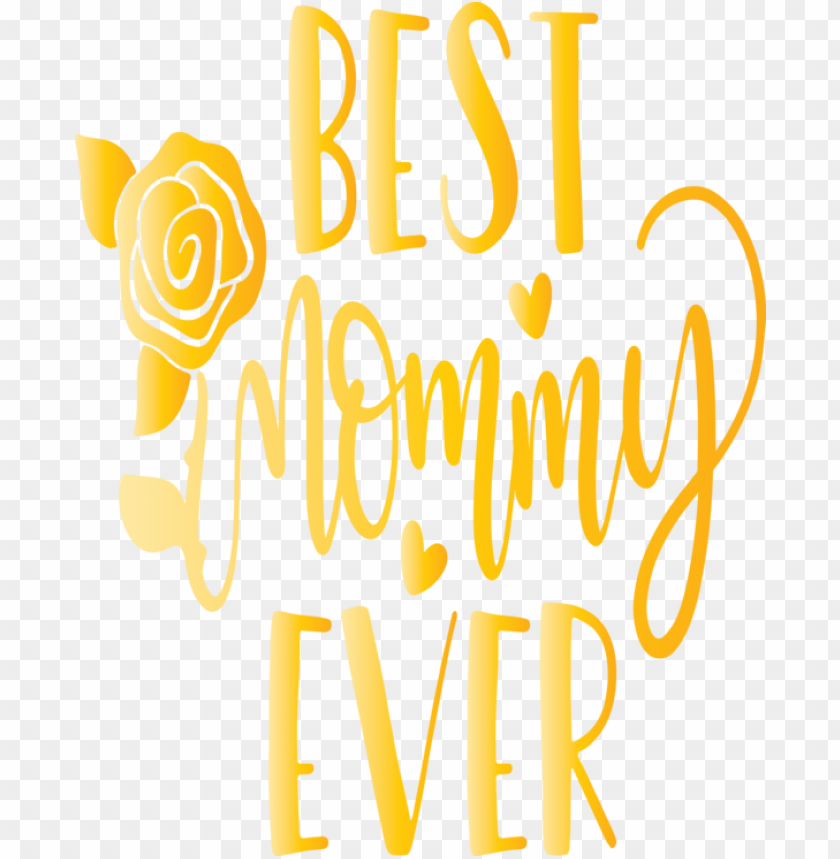free PNG Mother's Day Text Font Yellow for Mothers Day Calligraphy for Mothers Day PNG image with transparent background PNG images transparent