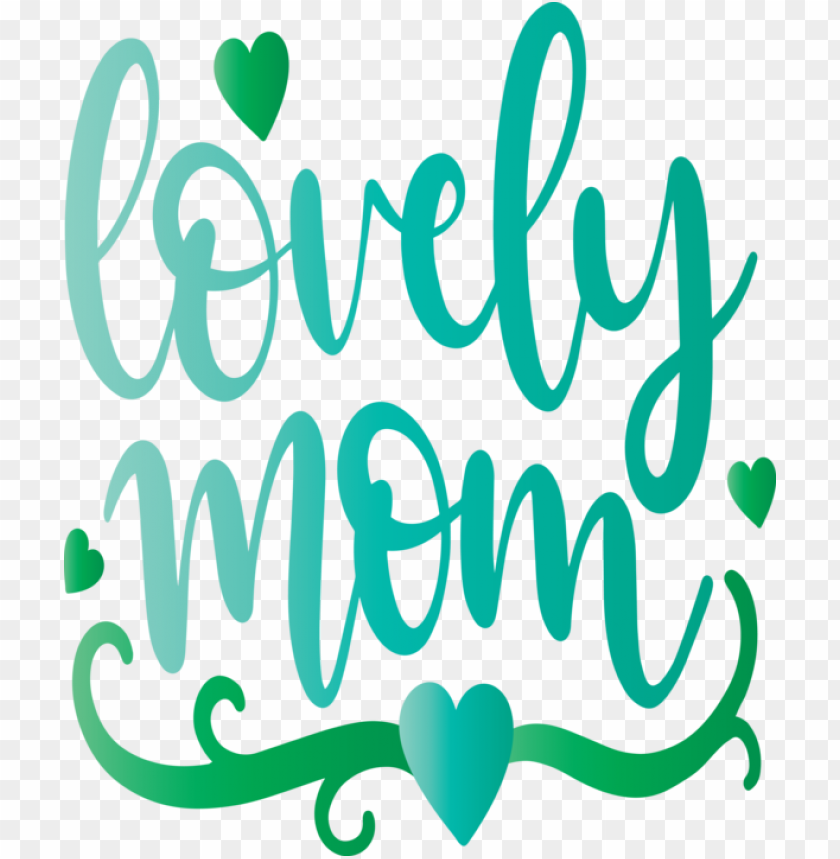 free PNG Mother's Day Text Green Font for Mothers Day Calligraphy for Mothers Day PNG image with transparent background PNG images transparent