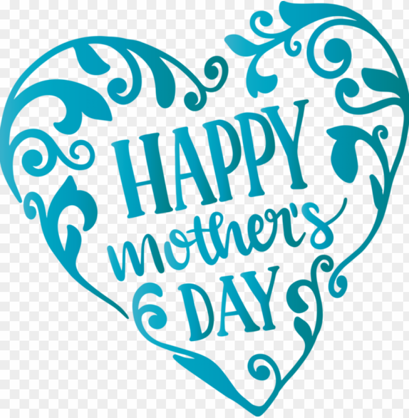 free PNG Mother's Day Turquoise Font Logo for Mothers Day Calligraphy for Mothers Day PNG image with transparent background PNG images transparent