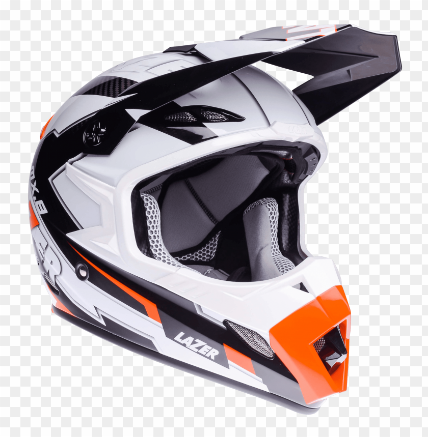 Download motorcycle helmet lazer mx8 geotech pc black carbon white orange png images background@toppng.com