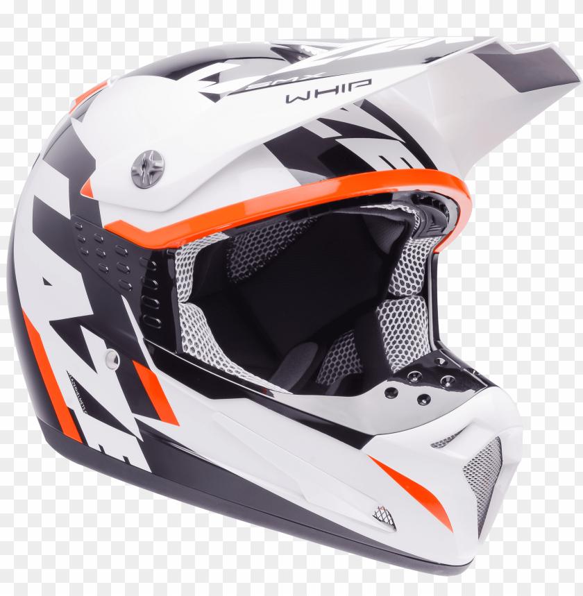free PNG Download motorcycle helmet lazersmx whip white black orange png images background PNG images transparent