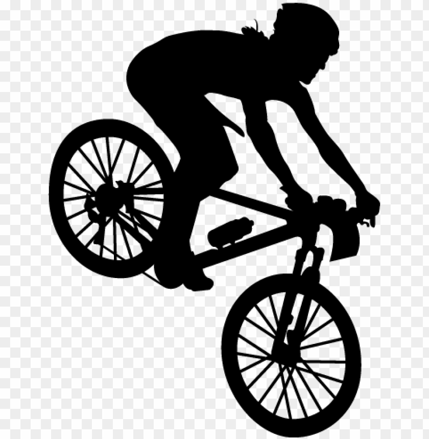 free PNG mountain biker silhouette sticker - mountain biker silhouette PNG image with transparent background PNG images transparent