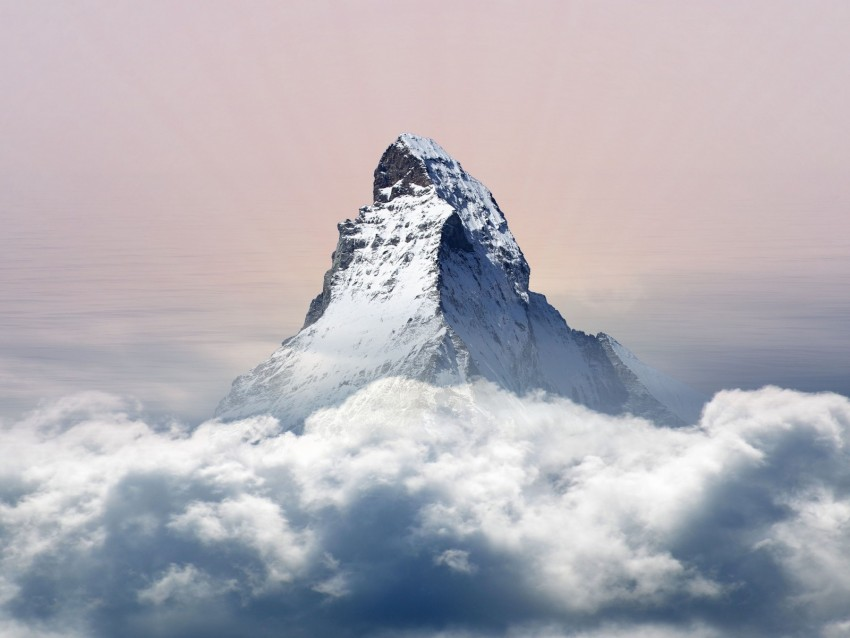free PNG mountain, clouds, peak, snowy background PNG images transparent