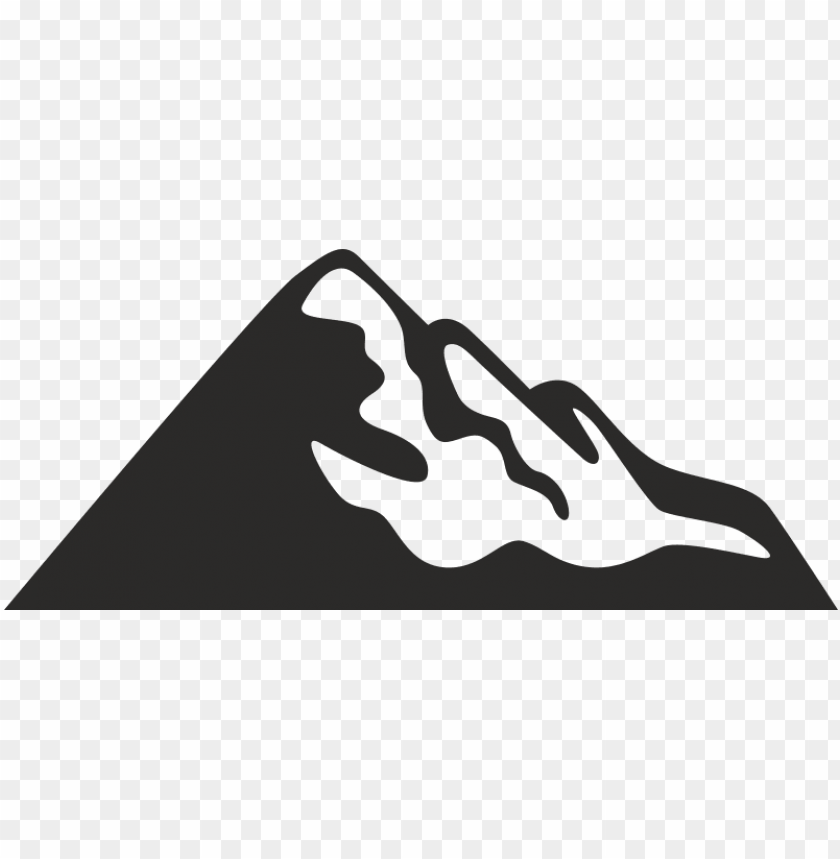 free PNG mountain icon black background - mountain ico PNG image with transparent background PNG images transparent