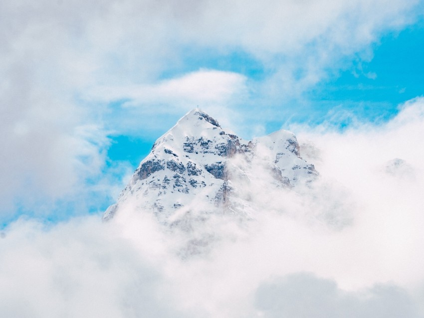 free PNG mountain, peak, clouds, height background PNG images transparent