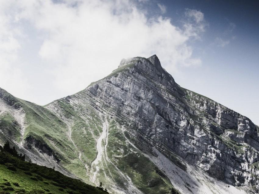 free PNG mountain, peak, clouds, slope, landscape background PNG images transparent