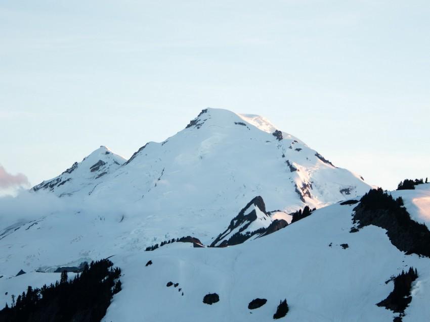 free PNG mountain, peak, snow, snowy, landscape background PNG images transparent