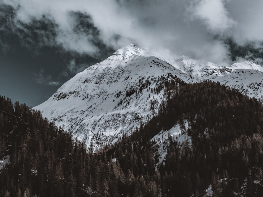 free PNG mountain, peak, snowy, clouds, italy background PNG images transparent