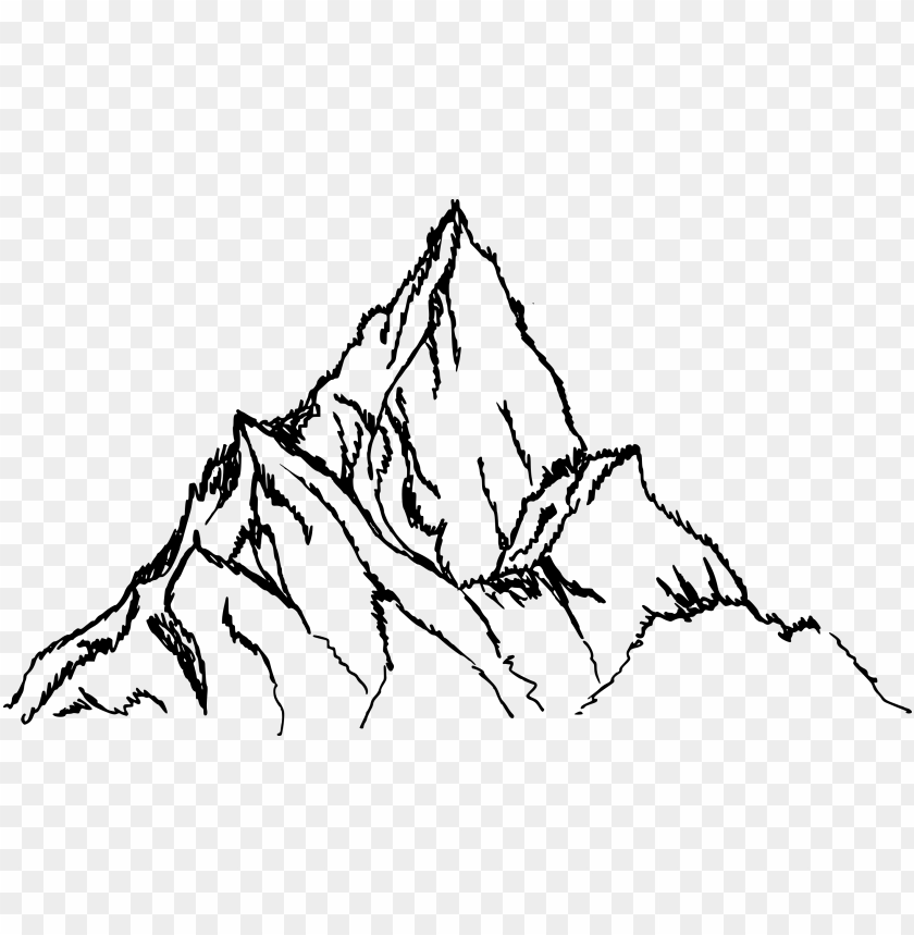 Mountain Png Transparent Vol Onlygfx Com Mountain Drawing Png Image With Transparent Background Toppng