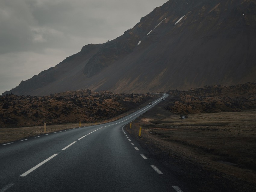 free PNG mountain, road, fog, asphalt, marking background PNG images transparent
