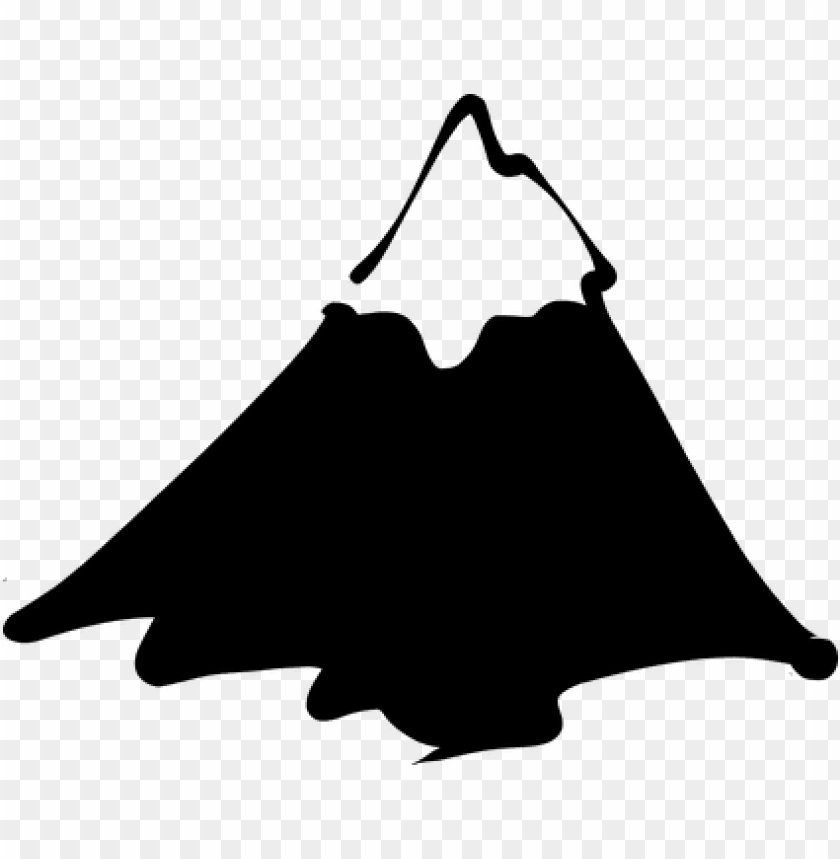 free PNG mountain snowy peak alp everest hill mount - single mountain clip art PNG image with transparent background PNG images transparent