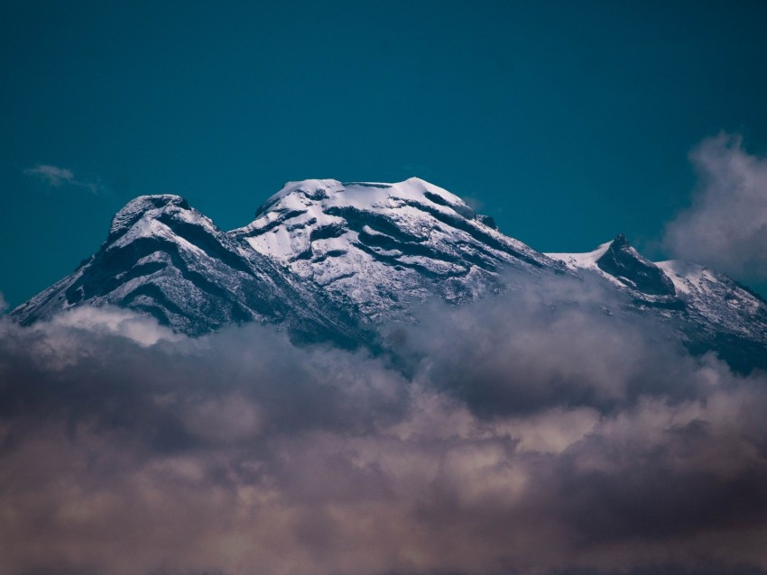 free PNG mountain, volcano, peak, clouds, snow background PNG images transparent