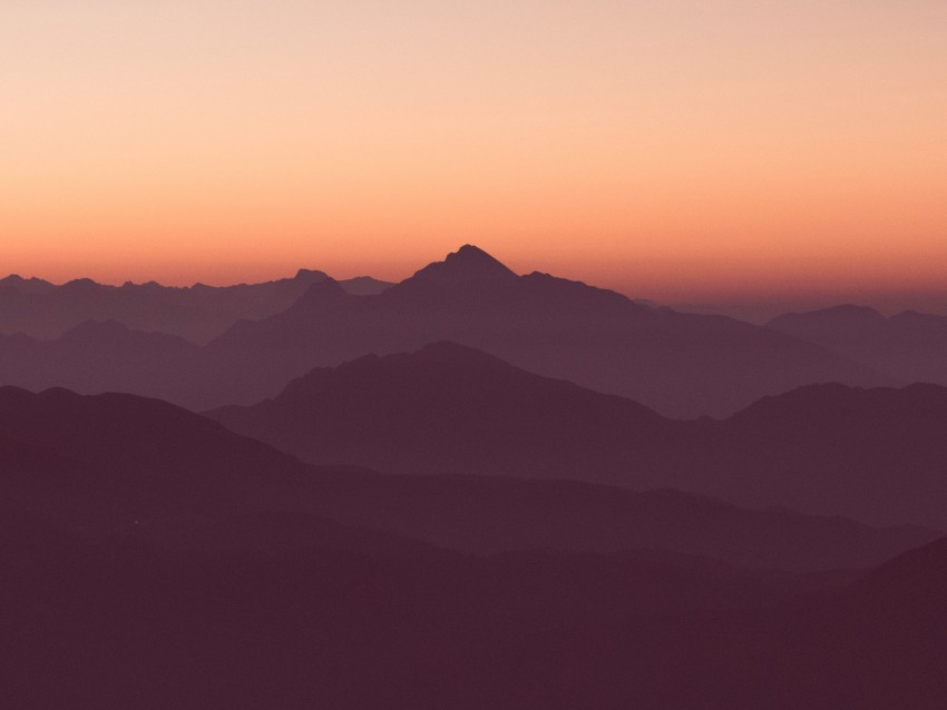 free PNG mountains, horizon, outlines, sunset, sky background PNG images transparent